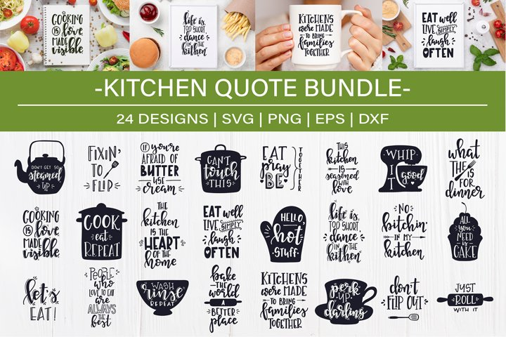 Kitchen SVG Bundle design set