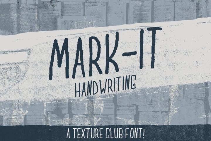 Mark-It handwritten font