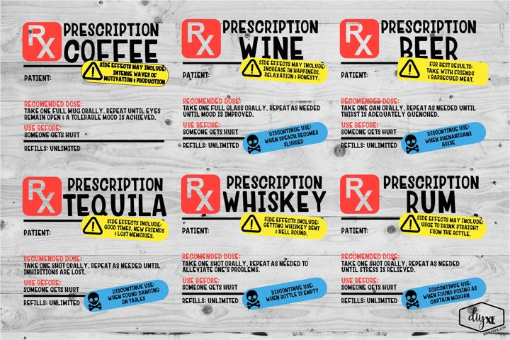 Prescription Labels Bundle - Sublimation Graphics
