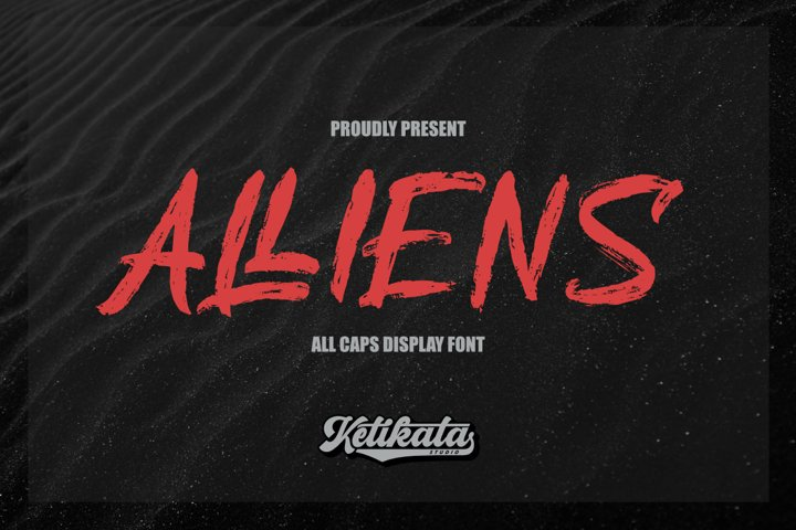 Alliens Display Font