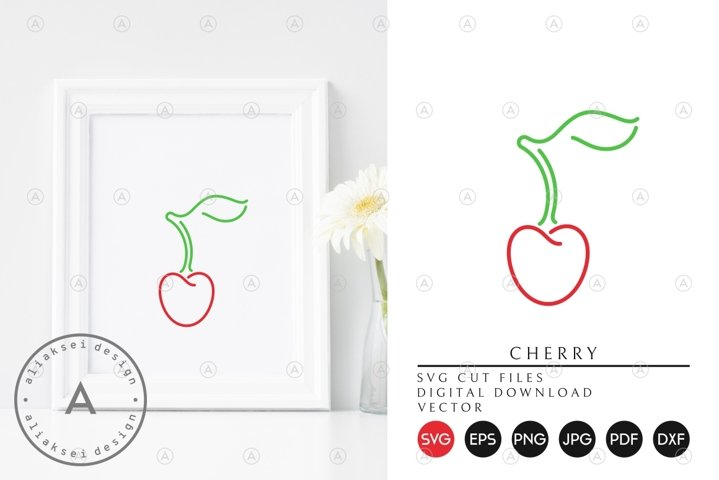 Cherry | Outline Style SVG