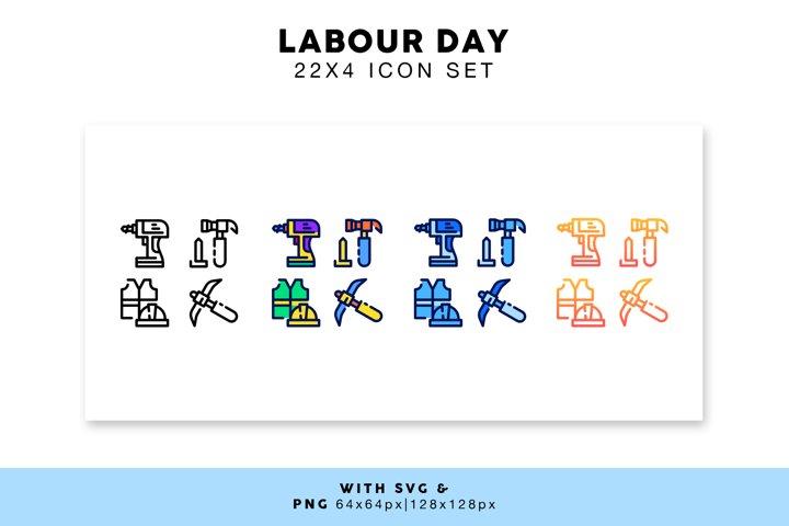 Labour Day Icon Set