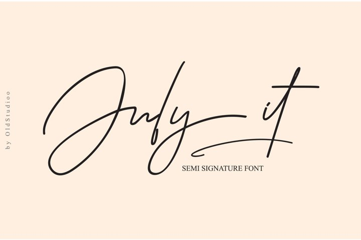 July it Semi Signature Font