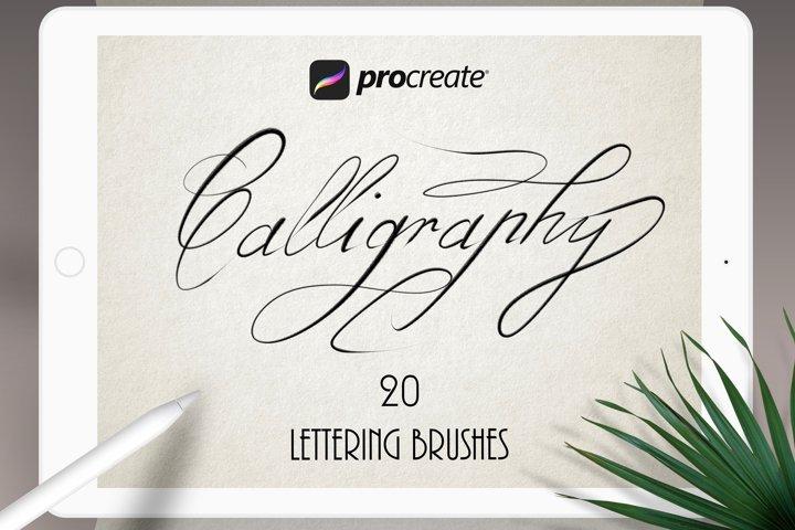 Texture Calligraphy Procreate Set