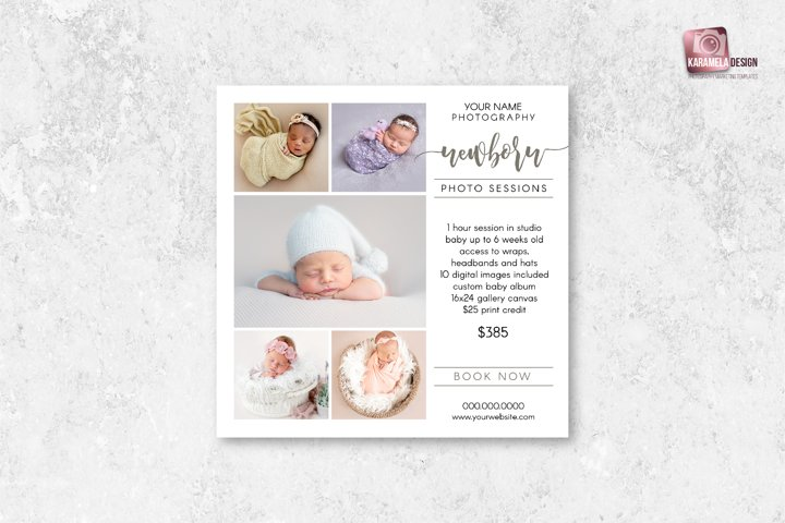 Newborn Photo Sessions Marketing Board