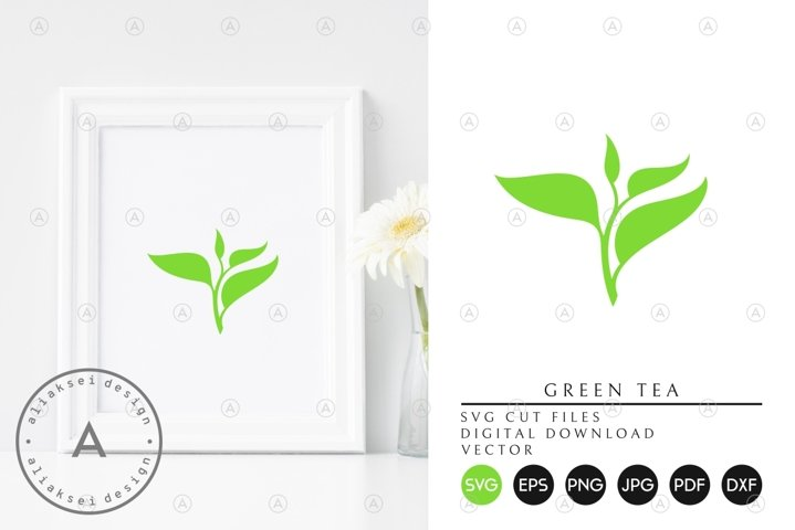 Green Tea | Isolated Branch SVG