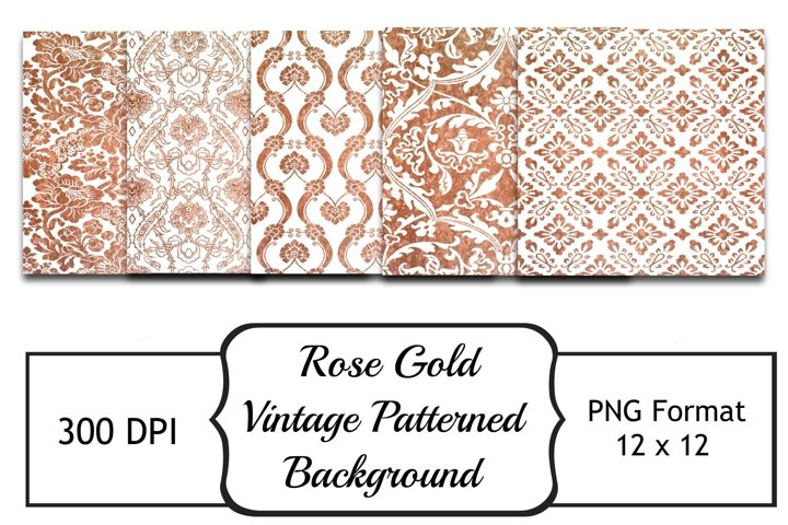 Rose Gold Vintage Background Scrapbook Paper 12 x 12