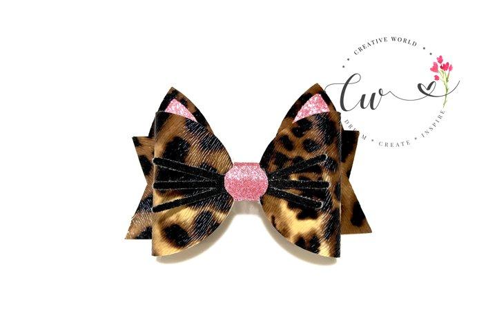 Cat Hair Bow Digital Template | Bow Template