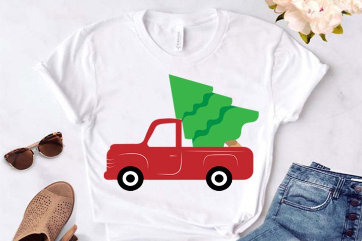 Christmas Tree and Red Truck svg