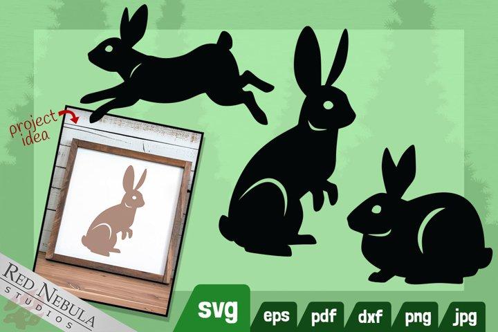 Rabbit SVG Images   3 Bunny Clipart Bundle