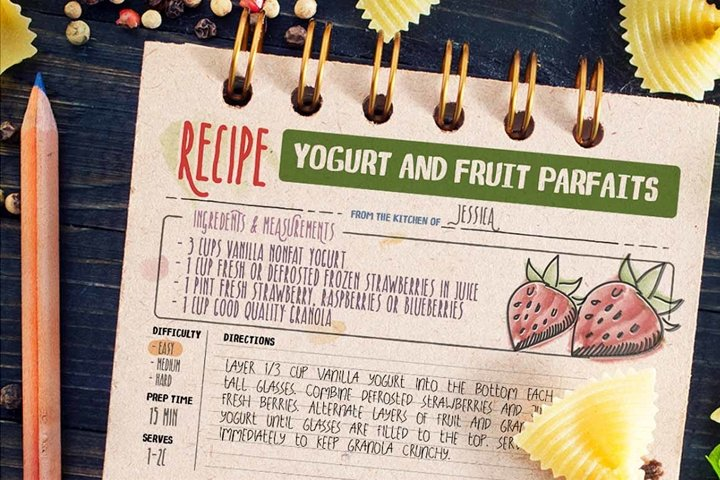 Recipe Daily - Free Font of The Week Design2