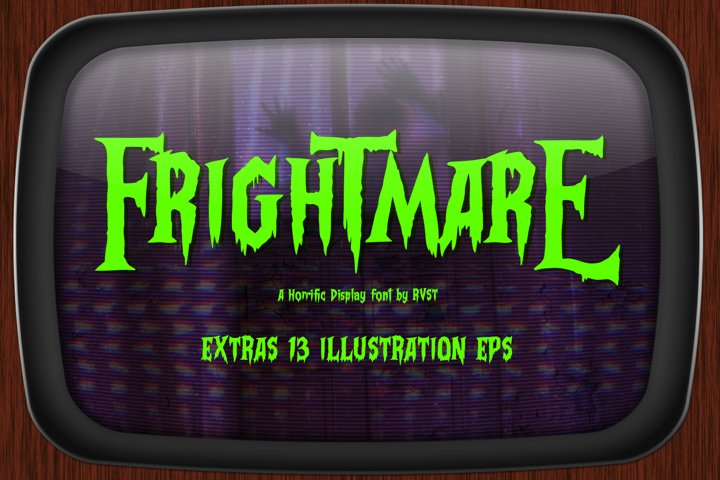 Frightmare - Display font