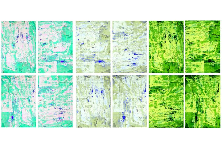 Set of 12 images. Abstract art background. Acrylic painting