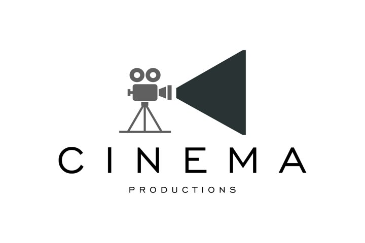 Flat Cinema Logo Design Template