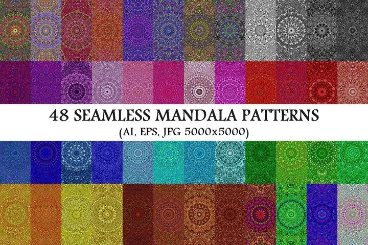 48 Seamless Floral Mandala Patterns