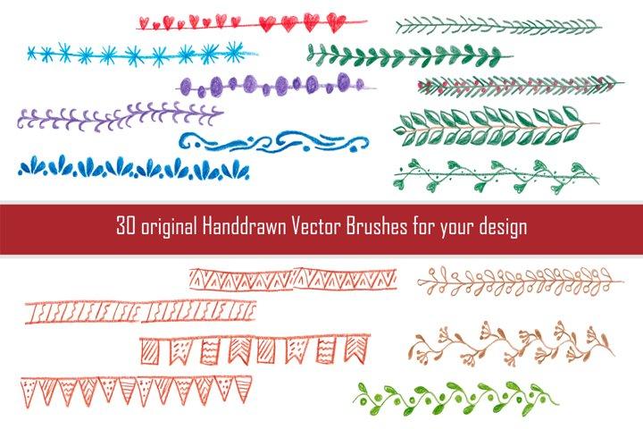 Hand brushes for Adobe Illustrator