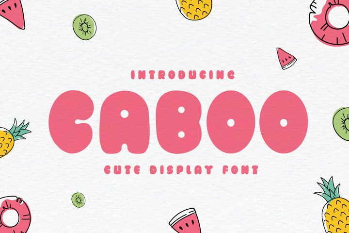 Caboo - Cute Display Font