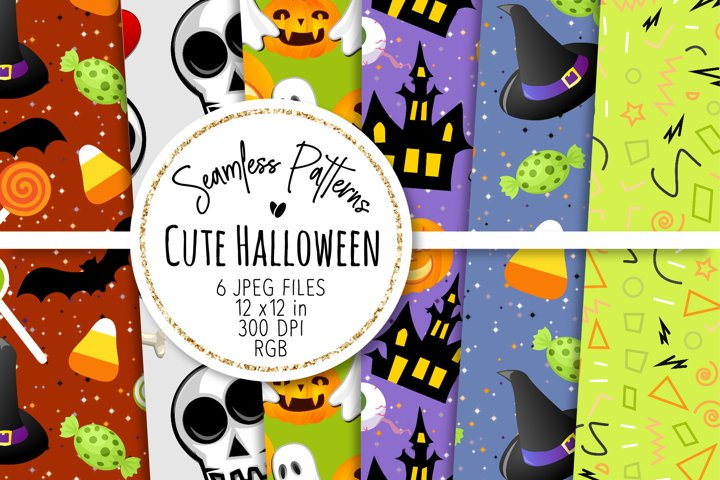 Cute Halloween Seamless Patterns 16