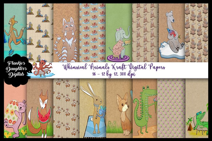 Whimsical Animals Silhouettes AI EPS PNG