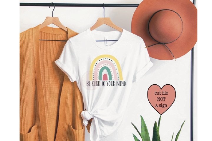 Be kind SVG, Rainbow SVG, Shirt SVG, Quote SVG