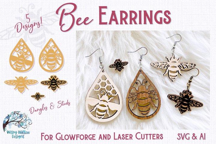 Bee Earring Bundle for Glowforge or Laser