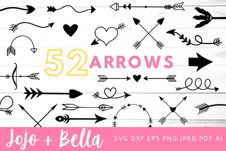 Arrow Svg Bundle |Arrow SVG - 52 Designs