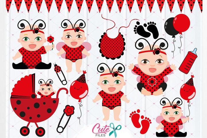 Baby Ladybug Clipar for baby shower