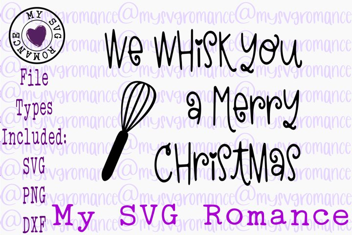 We Whisk You A Merry Christmas Pot Holder SVG PNG DXF