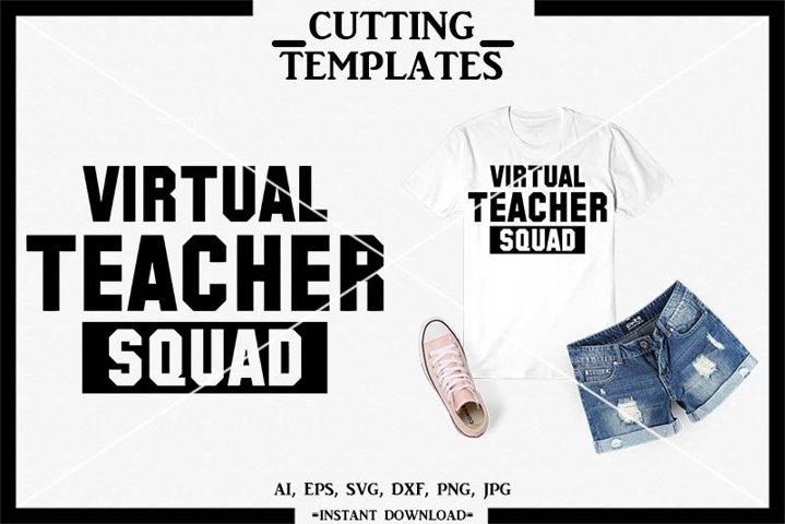 Virtual Teacher Squad, Silhouette, Cricut, Cameo, SVG, PNG