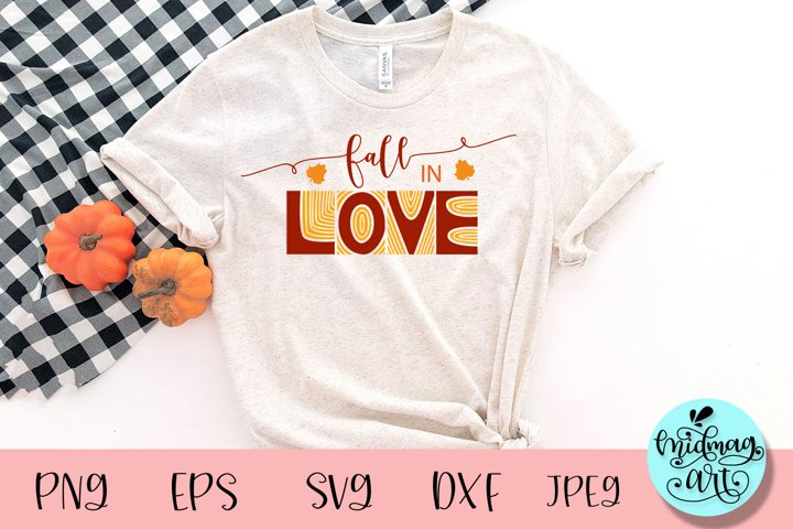 Fall in love svg, fall svg