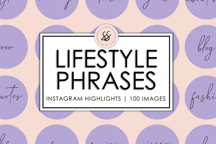 100 Lifestyle Instagram Purple Highlight Covers