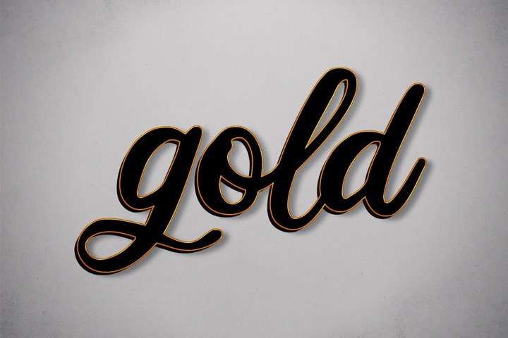 Black and Gold - Photoshop Text Effect
