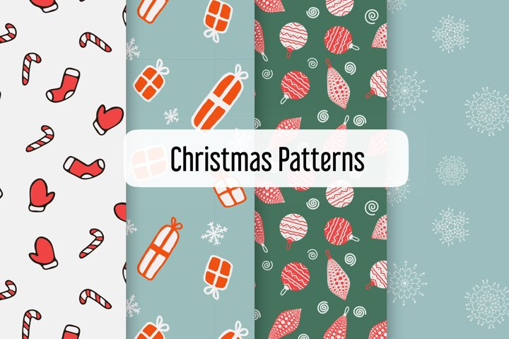 Christmas patterns set
