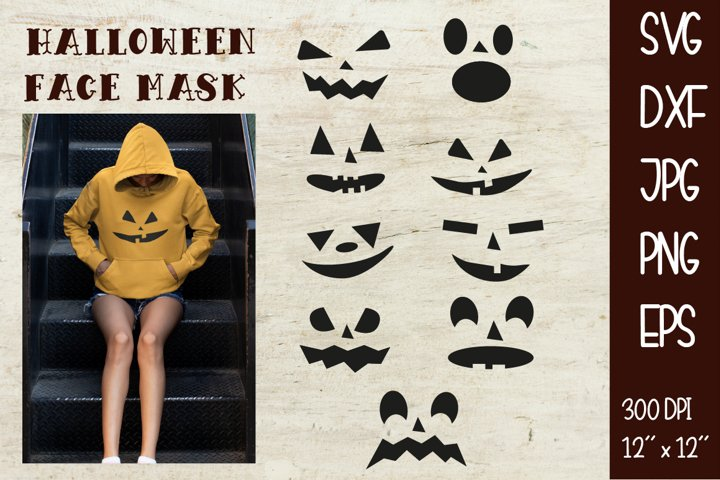 Halloween face mask Sublimation Cutting SVG DXF PNG EPS JPG