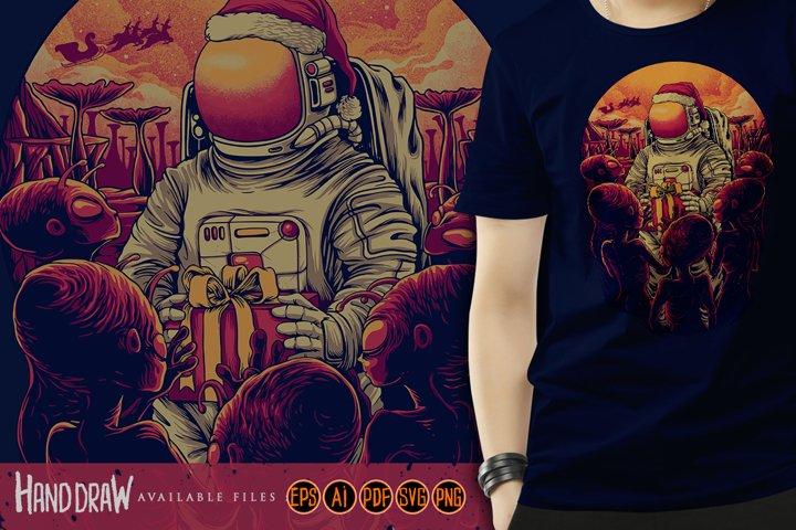 Christmas on the Alien Planet SVG Merchandise