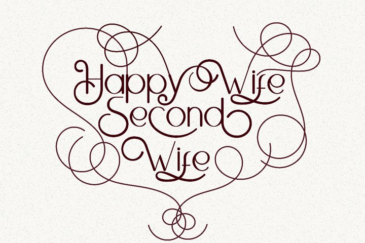 Happy Wife lettering quotes