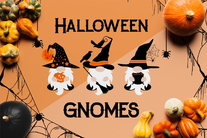 Halloween Gnomes SVG Cut Files, Gnomes PNG, Halloween Gnome