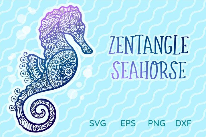 Zentangle Seahorse SVG cut file