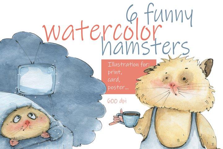 Hamster character. Set.