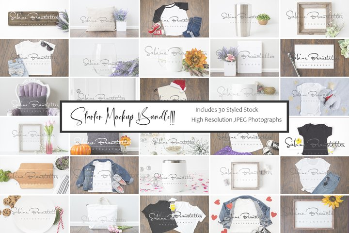 Styled Stock Photography, Starter Mockup Bundle, 30 Images