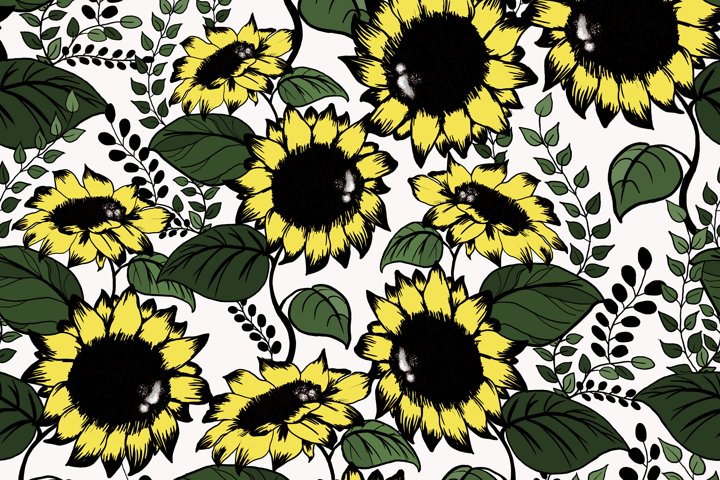 Sunflowers design elements