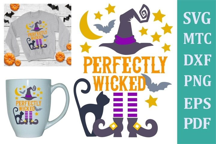 Perfectly Wicked Halloween Design #02 SVG Cut File