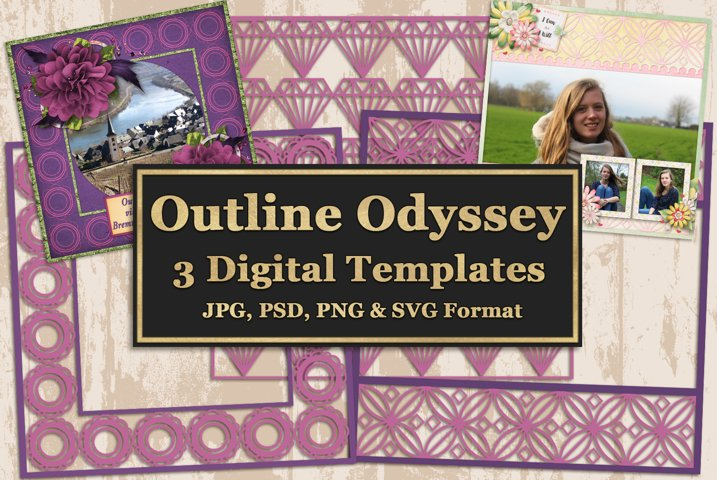 Outline Odyssey Digital Templates and Cuttables