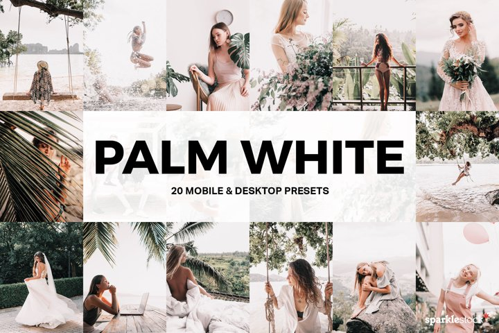20 Palm White Lightroom Presets and LUTs