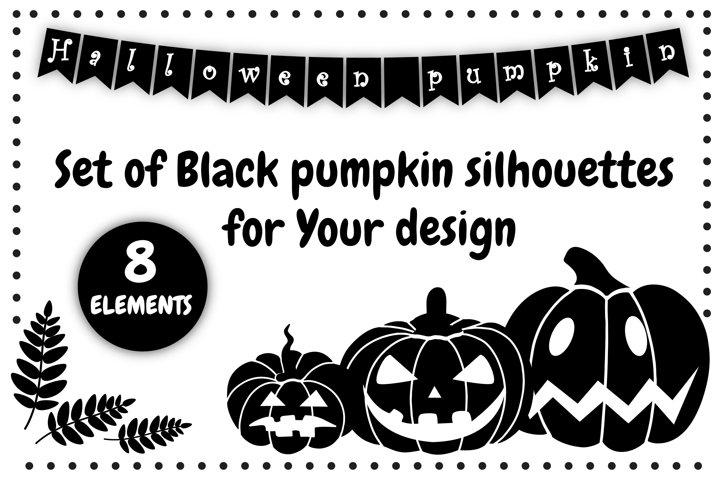 black pumpkin | pumpkin silhouette svg | Halloween clipart