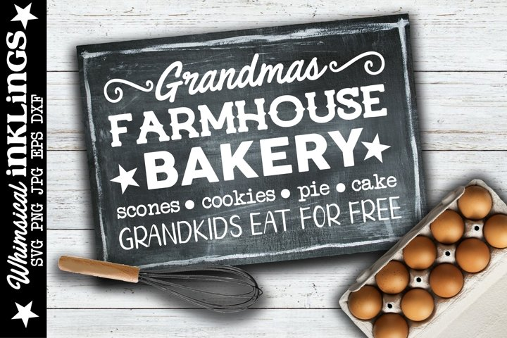 Grandmas Farmhouse Bakery SVG