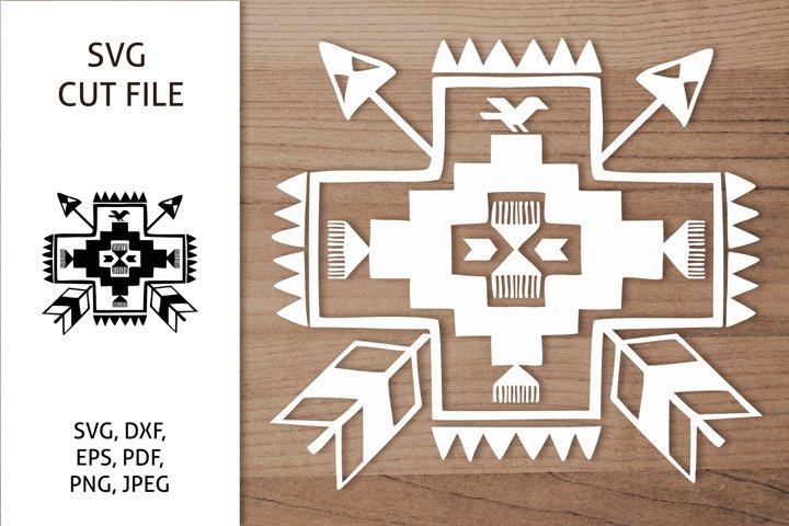 Aztec Southwestern Sign SVG, Native America, Boho design