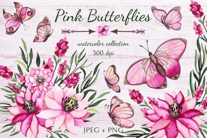 Pink Butterflies example