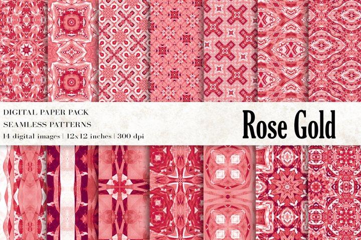 Rose Gold Digital Papers, Rose Gold Patterns