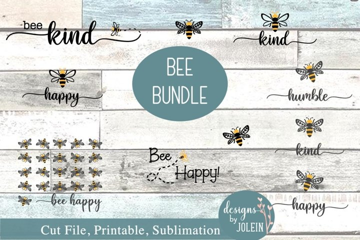 Bee Bundle SVG, png, sublimation, printable, honey bee, bee